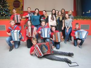 Obisk ilirskobistriških študentov in Nika Polesa s svojimi učenci